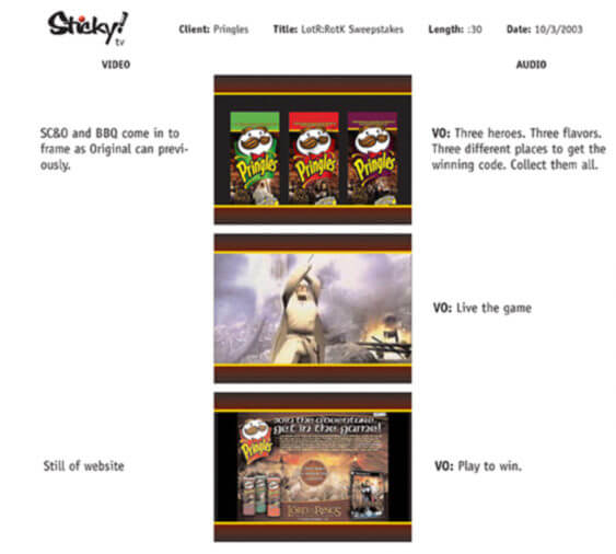 Pringles LotR Sweepstakes 30